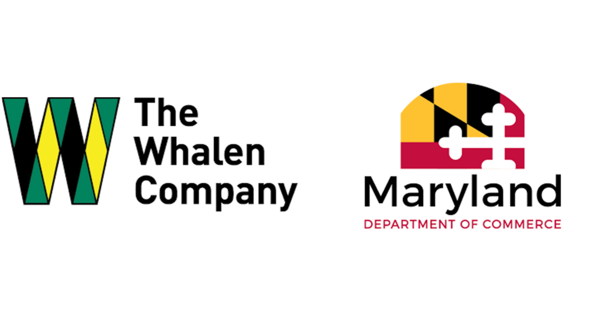 Logos of the Whalen Company and Maryland Department of Commerce